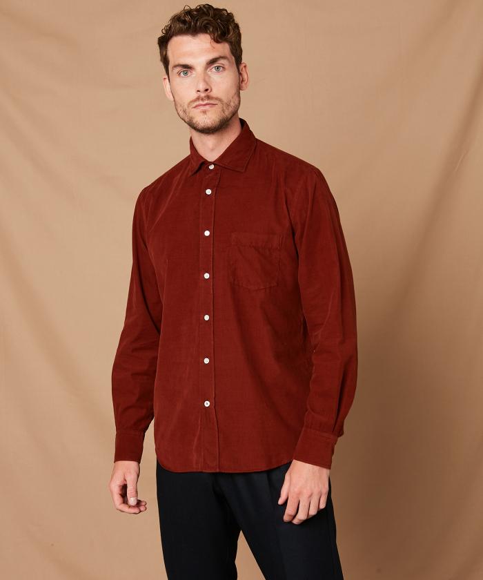 Copper corduroy Paul regular shirt