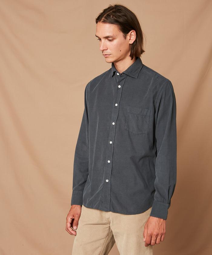 Grey corduroy Paul regular shirt