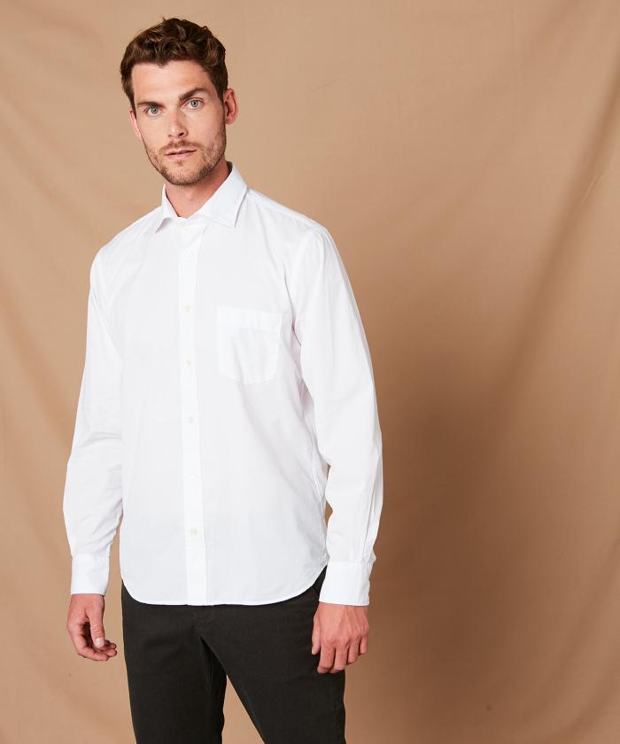 Chemise regular Paul en coton blanc