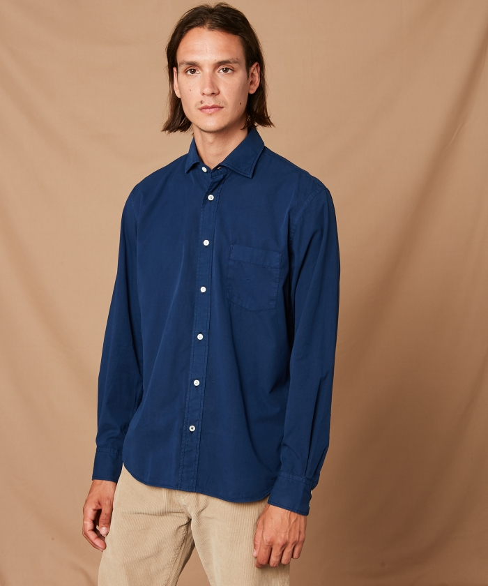 Ink Peach Twill Paul regular shirt