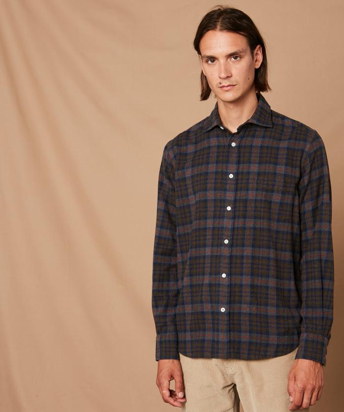 Checked flannel Paul regular shirt