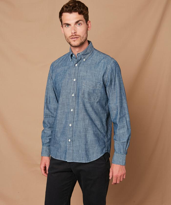 Chambray cotton Pal regular shirt