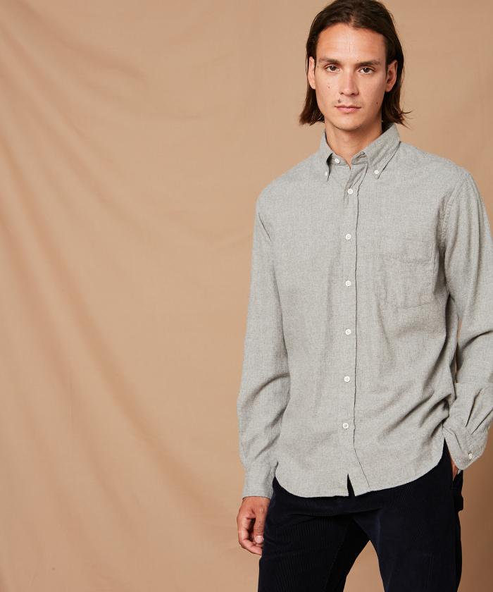 Cotton flannel Pal regular shirt
