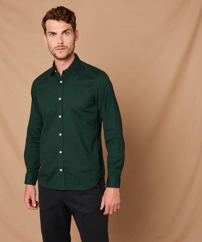 Micro prints Sammy slim-fit shirt