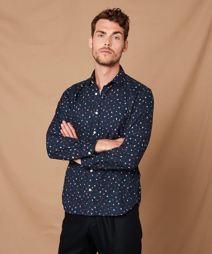 Dot prints Sammy slim-fit shirt