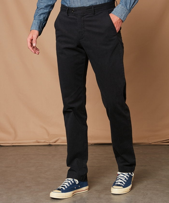 Navy caviar stretch cotton Tobby pants