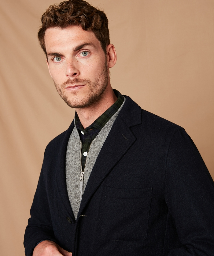 Jobs unstructured wool jacket