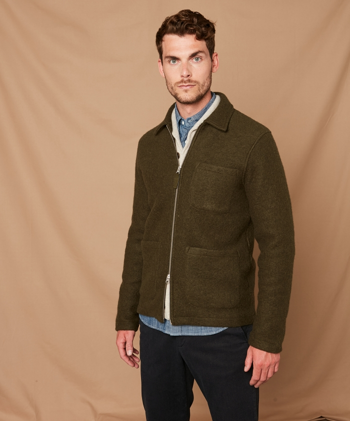 Army boiled wool jacket