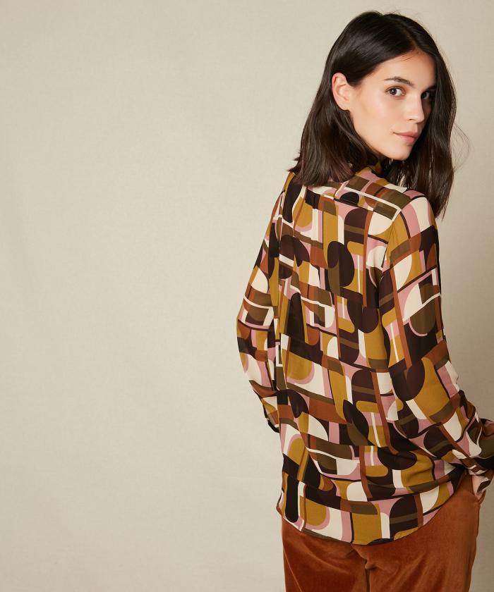 70's Geometric print Corazon shirt