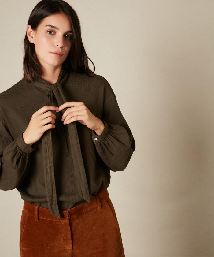 Chemise Charline à col lavallière