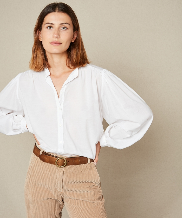 Cotton voile Courtney shirt