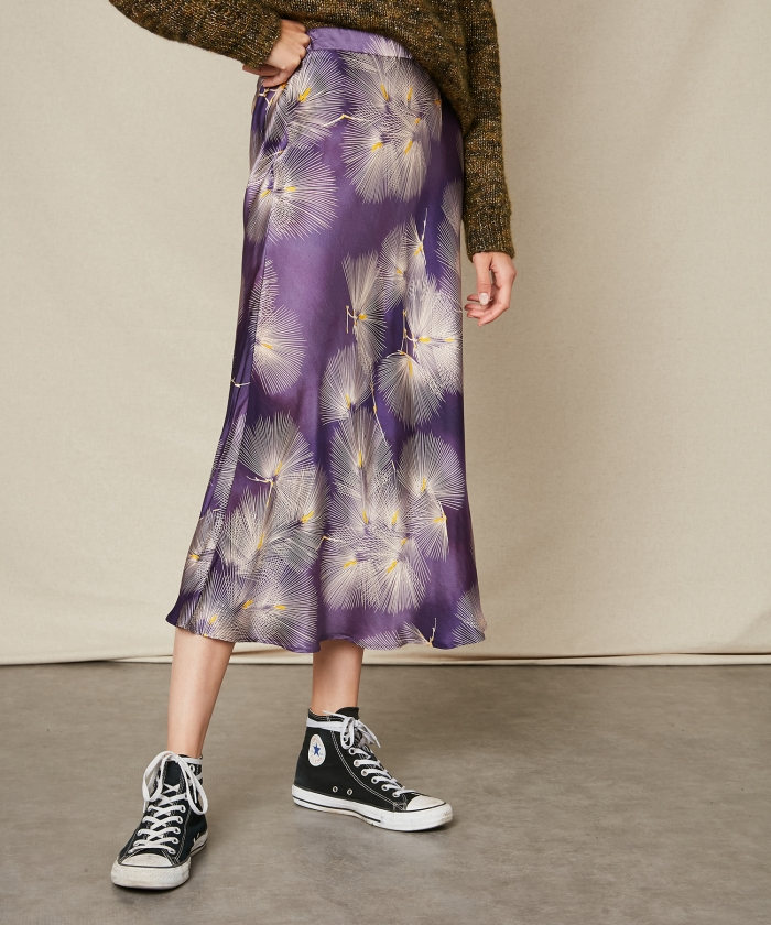 Japanese print purple Jill skirt