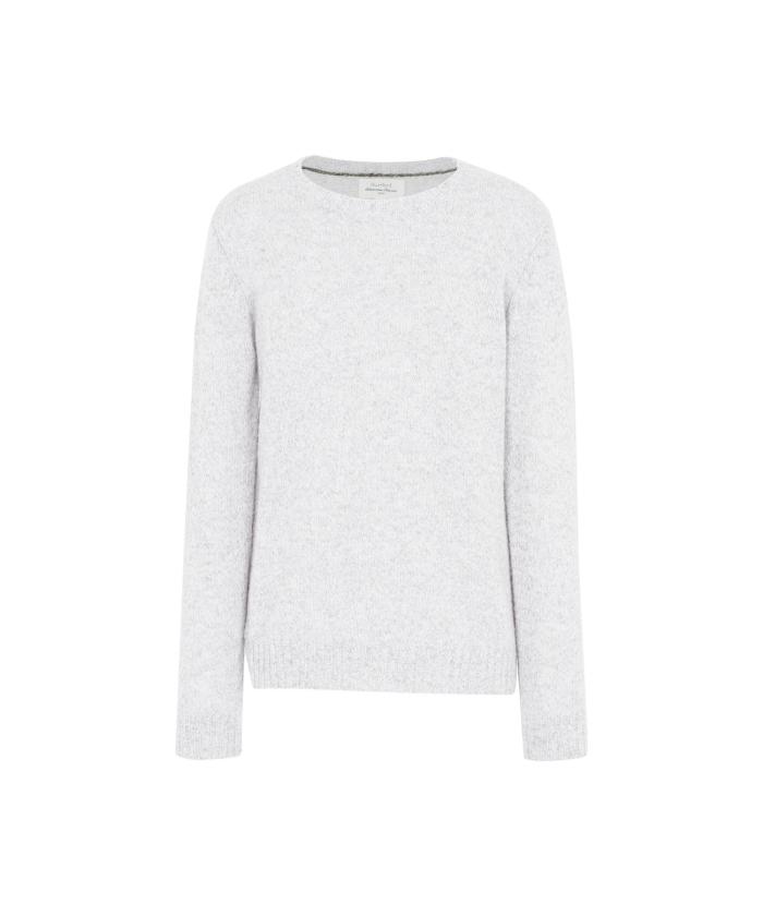 Heather grey shetland wool sweater