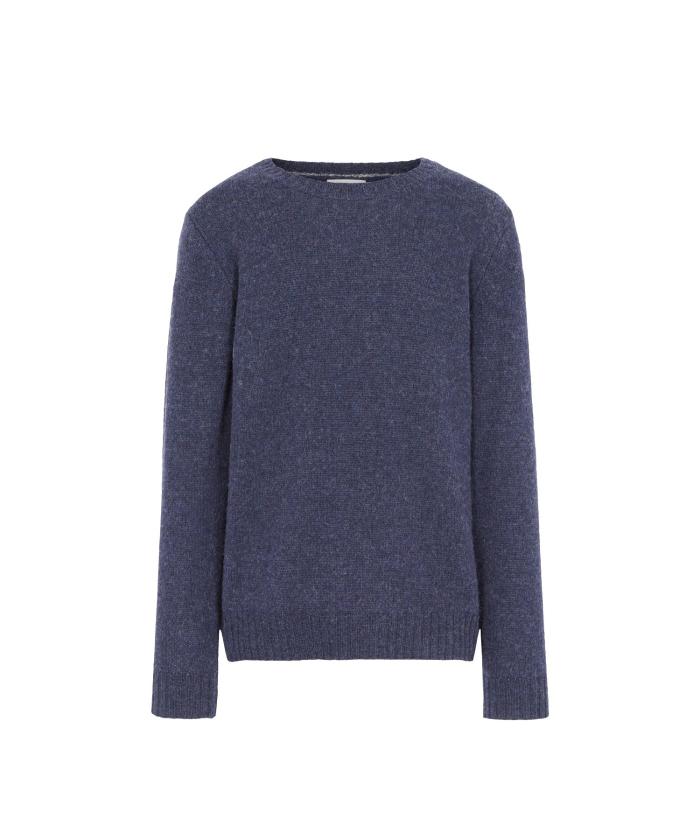 Pull en laine shetland indigo