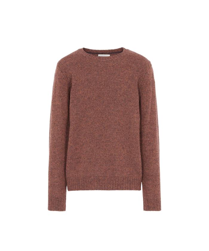Pull en laine shetland marron