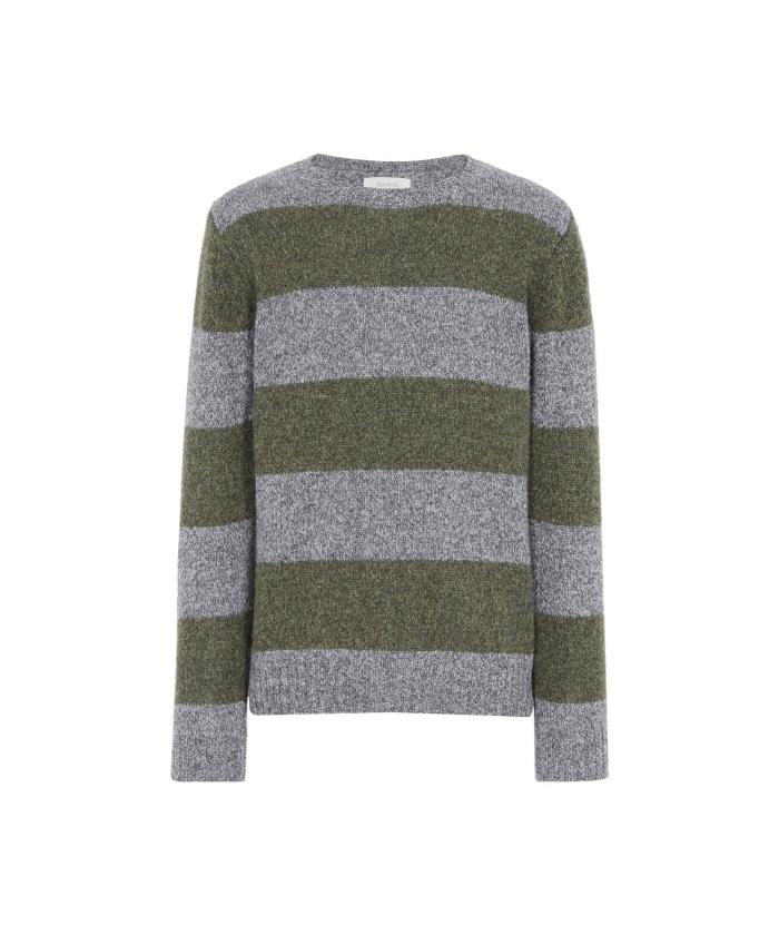 Striped shetland wool sweater