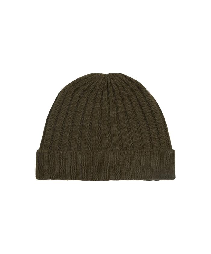 Bonnet en laine et cachemire army