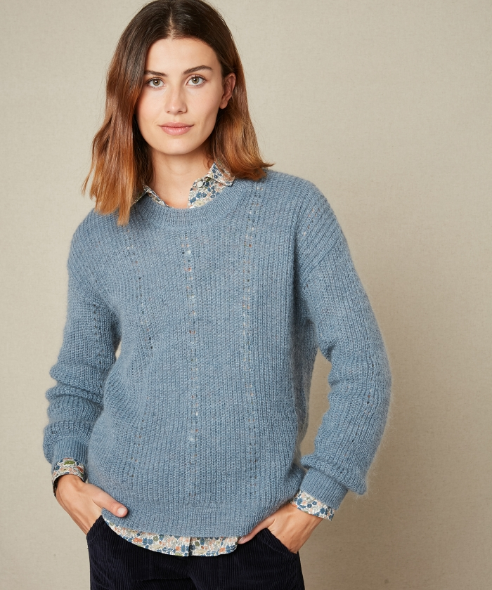 Blue Mada mohair sweater