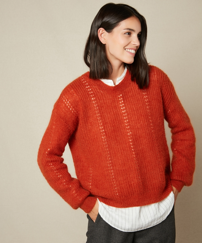Brick Mada mohair sweater