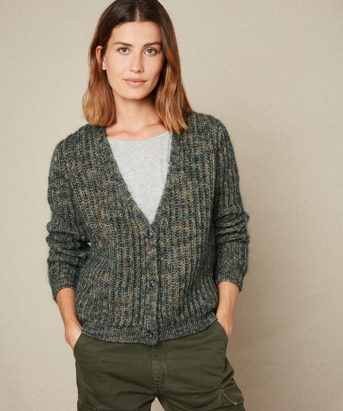 Moskito metallic yarn sweater