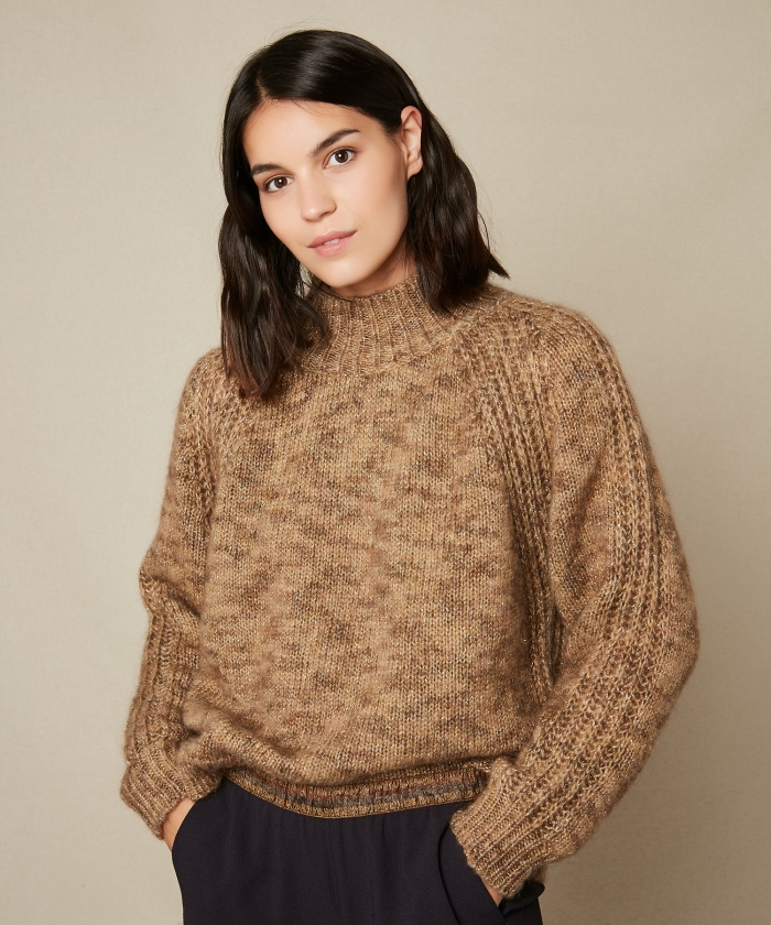 Myxine mock turtleneck wool sweater