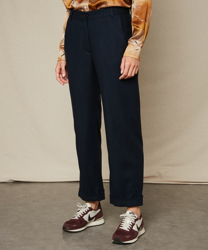 Houndstooth Perrine straight pants