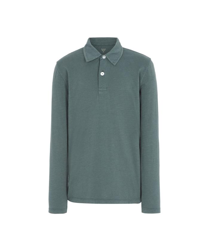 Polo en coton slub vert