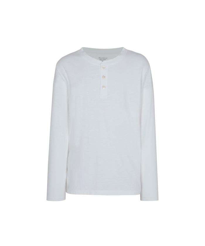 White cotton Henley tee-shirt