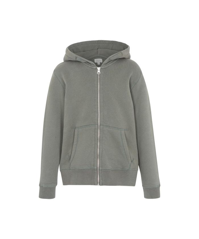 Army zipper hoody sweatshirt