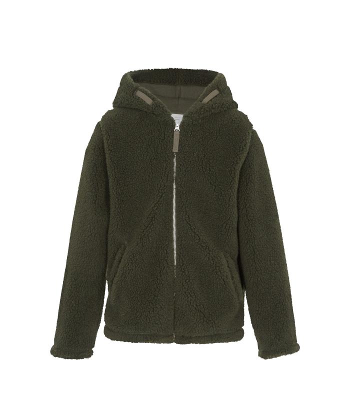 Army sherpa hood jacket