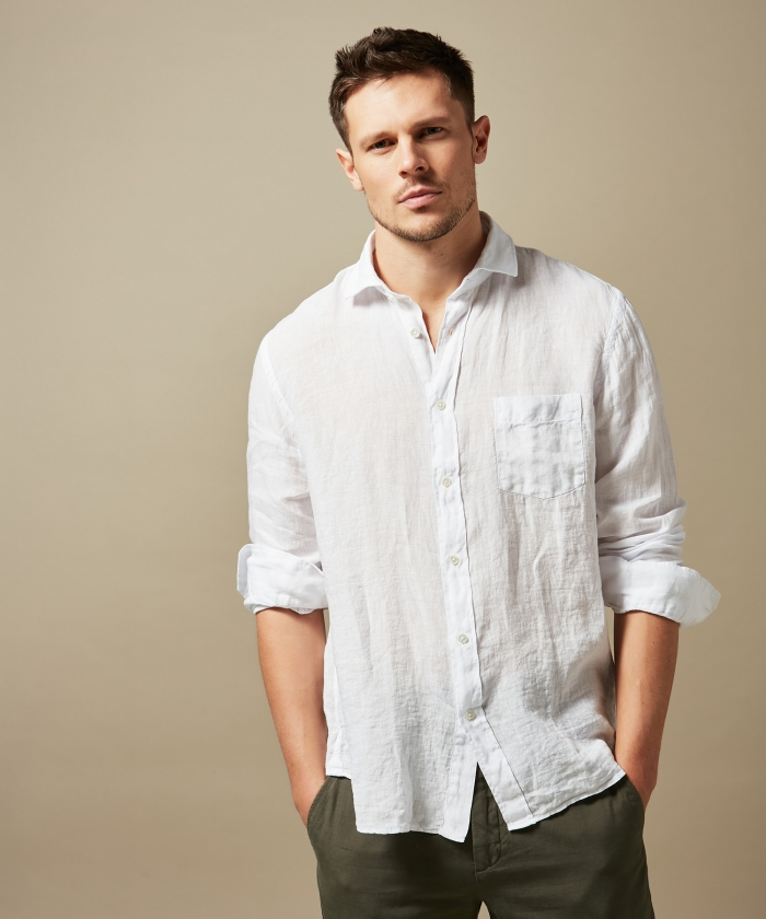 White linen Paul regular shirt