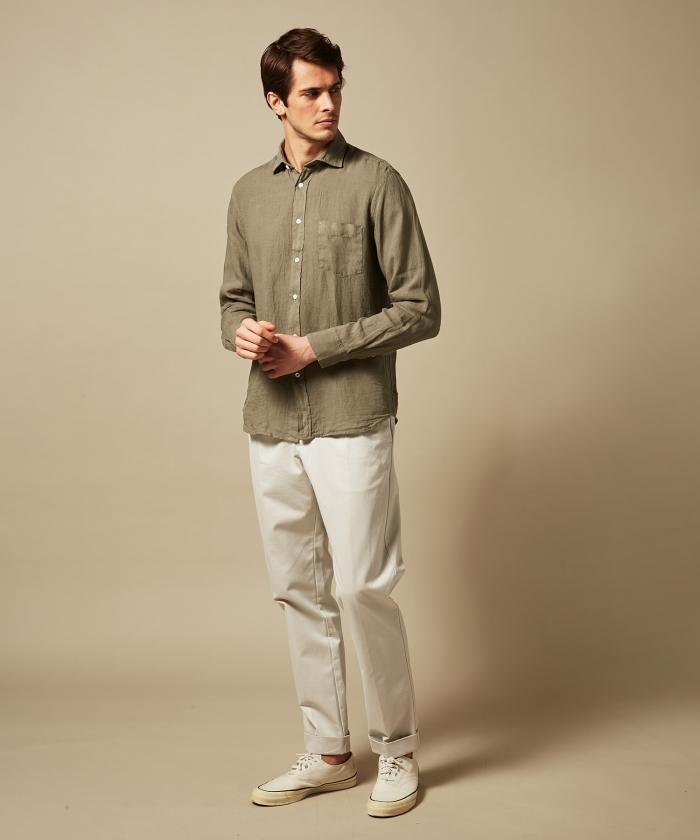 Army linen Paul regular shirt