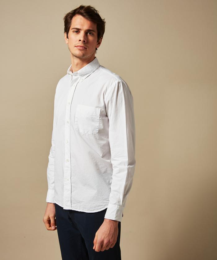 White summer twill Pitt regular shirt