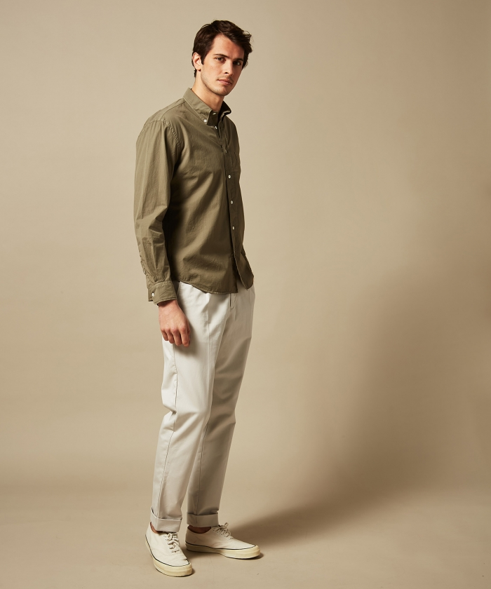 Camo summer twill Pitt regular shirt