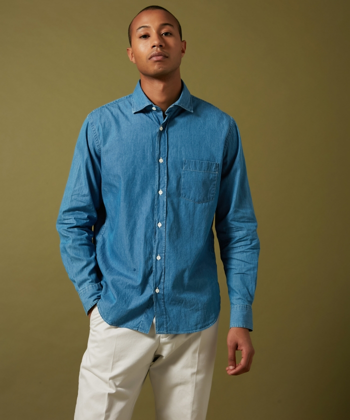 Summer denim cotton Paul regular shirt