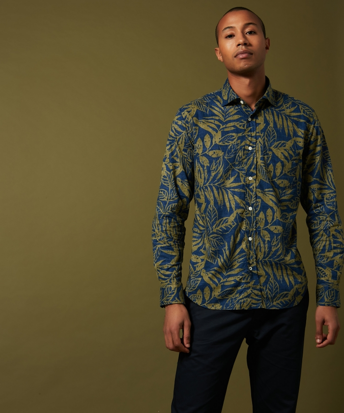 Leaves print Paul regular shirt