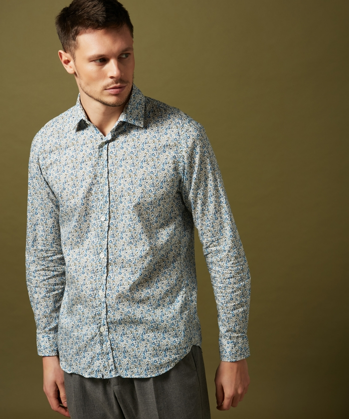 Chemise slim-fit Sammy en Liberty
