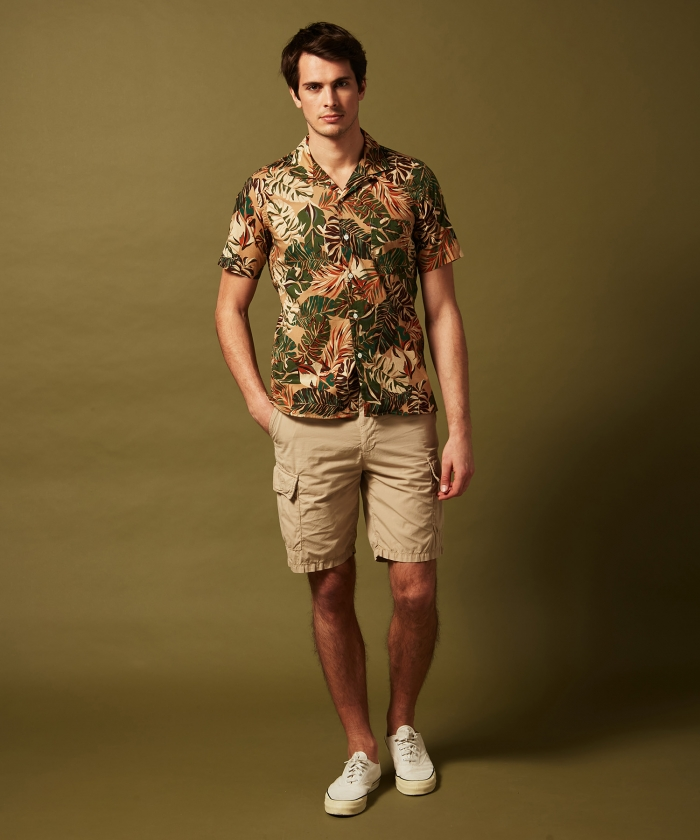 Palms print Slam slim-fit shirt