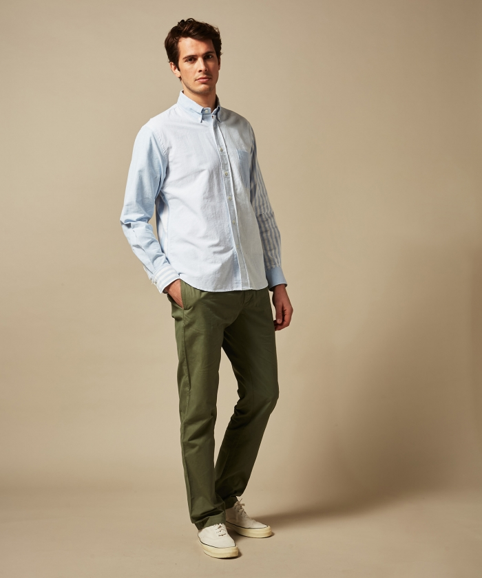 Chemise regular Pitt en oxford rayé