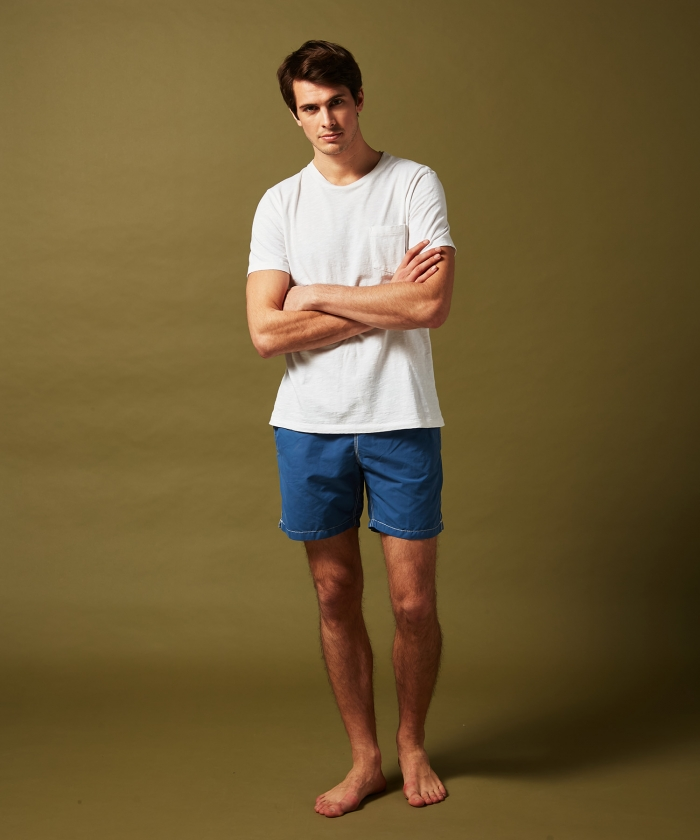 Ocean blue solid classic Swim shorts