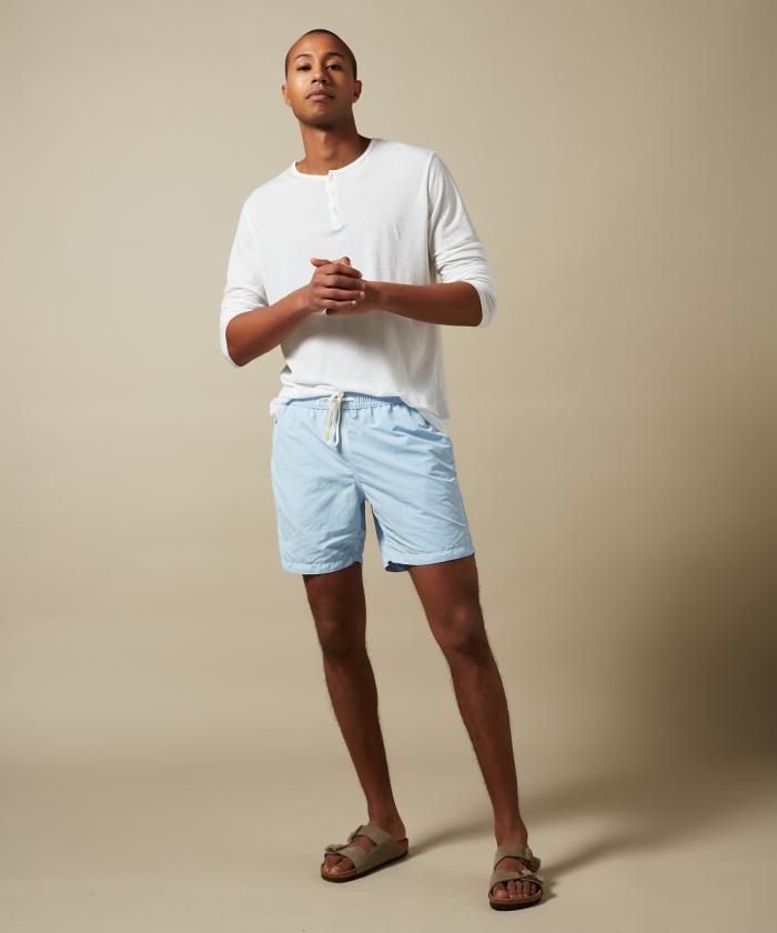 Sky blue solid classic Swim shorts
