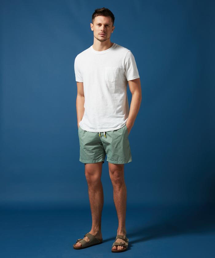 Sage green lightweight Swim shorts