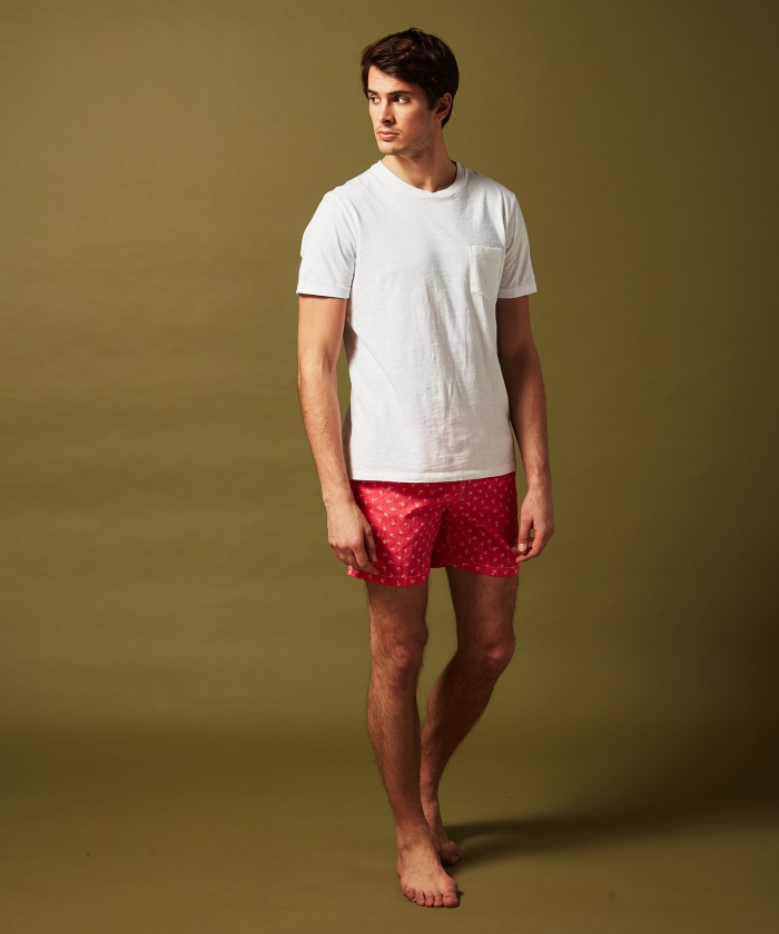 Red palmito Swim shorts
