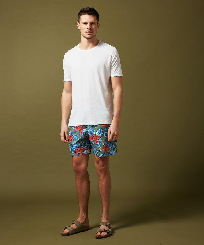 Army Hibiscus Swim shorts