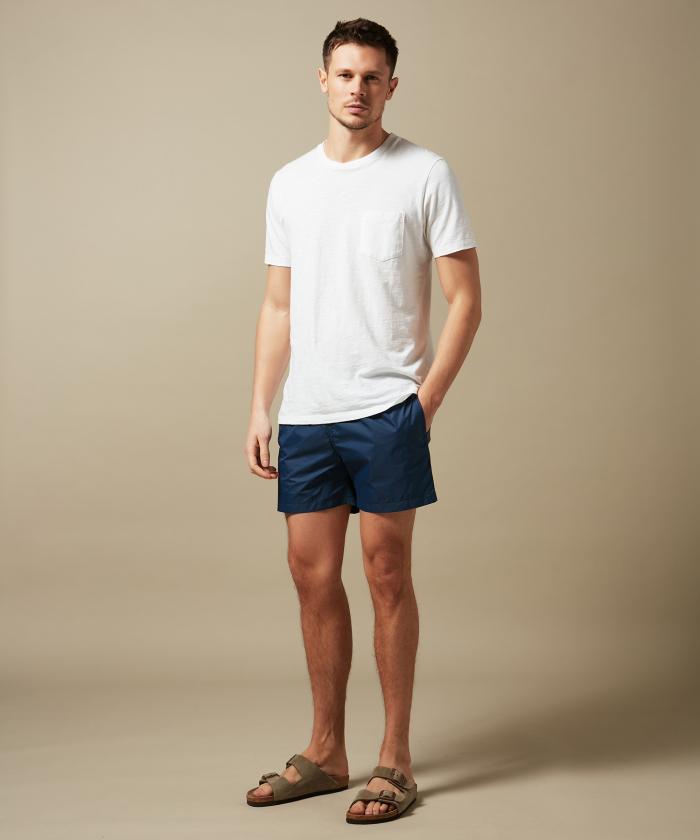 Navy lightweight Boxer swim shorts