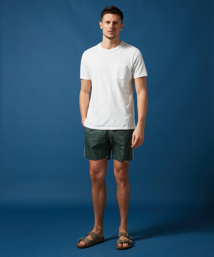 Army lightweight striped Swim shorts