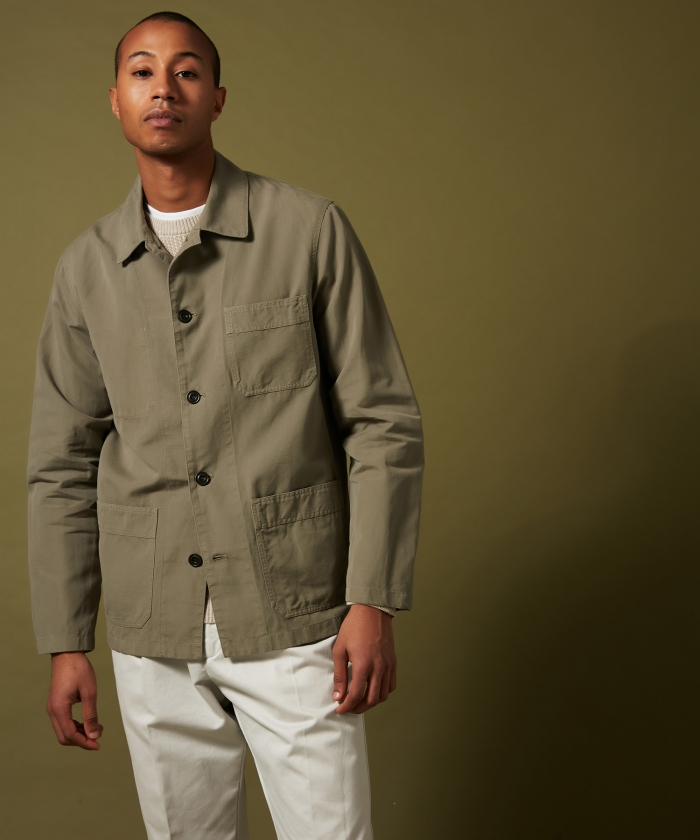 Army cotton and linen Jeremy jacket