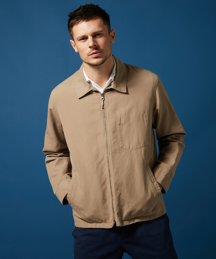 Sand cotton and linen Downtown jacket
