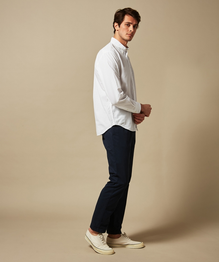 Navy cotton chino Taylor pants