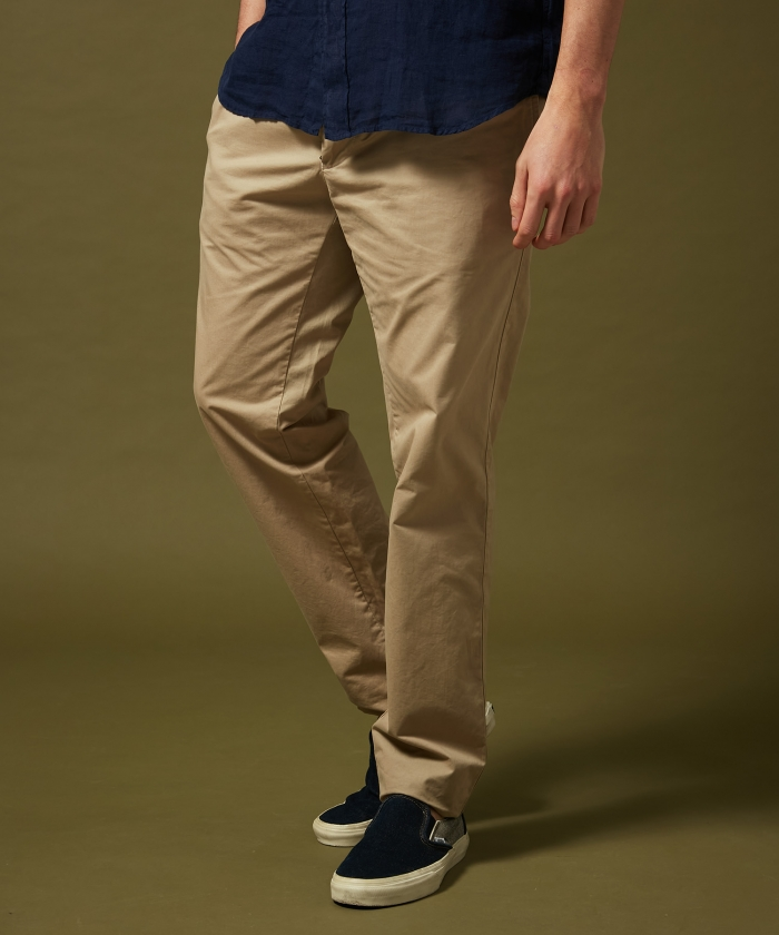Sand cotton chino Taylor pants